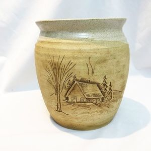 Vintage Rustic Ceramic Flower Pot
